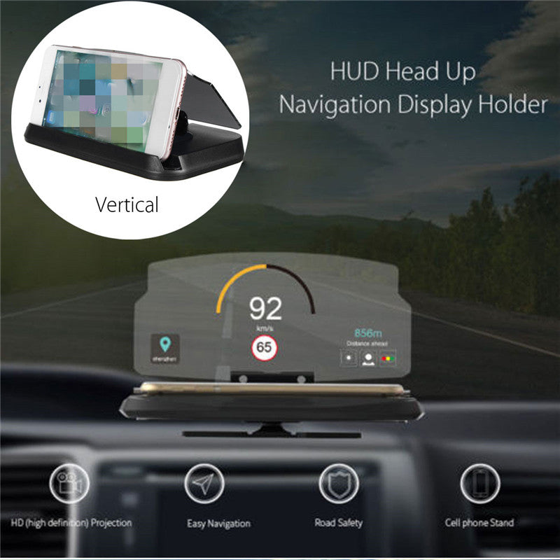 HUD - Universal Smartphone Driver Heads Up Display Mount Bracket Holder