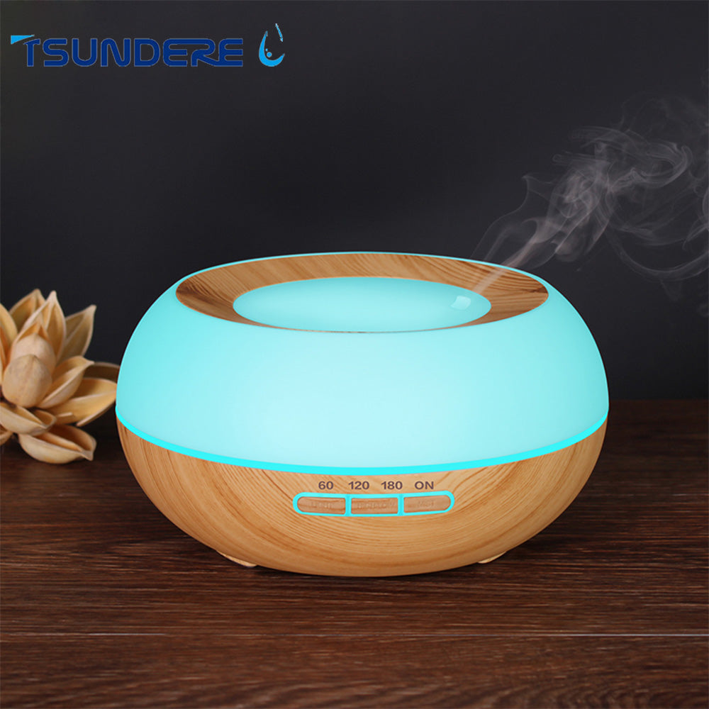 Aroma Wooden Essential Oil Diffuser (With LED Night Light)