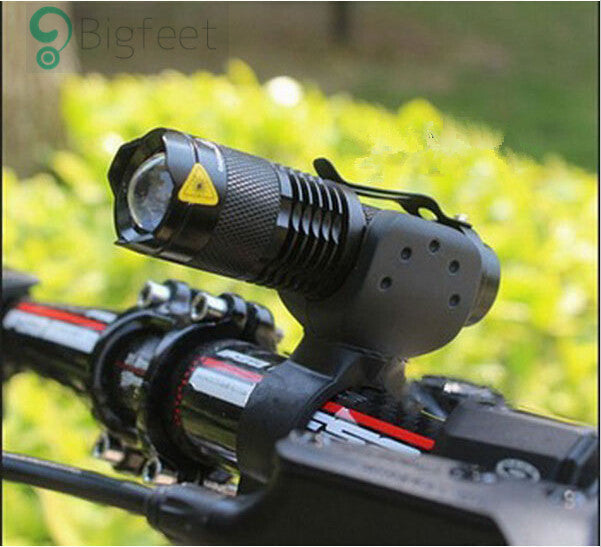 Bicycle Light 7 Watt 2000 Lumens 3 Mode Bike - LED cycling Front Light (Torch Waterproof ZOOM flashlight)