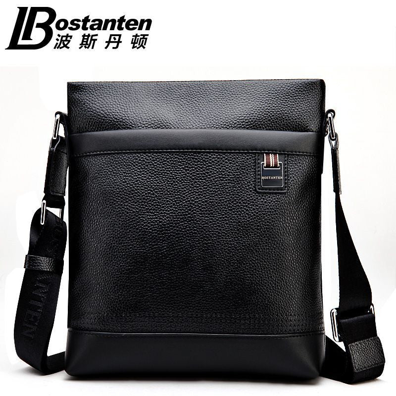 100% GENUINE LEATHER cowhide Shoulder leisure men's bag portable briefcase  for Laptop