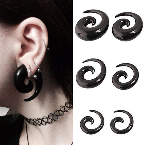2pcs Acrylic Spiral Taper Tunnel Ear Stretcher Plugs