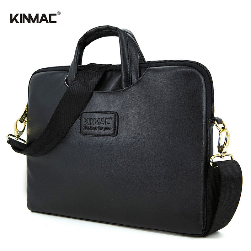 New Top Quality Kinmac 13 14 15.6 inch Leather Laptop bag (Handbag Shoulder Briefcase For Computer Notebook Macbook Air Pro)