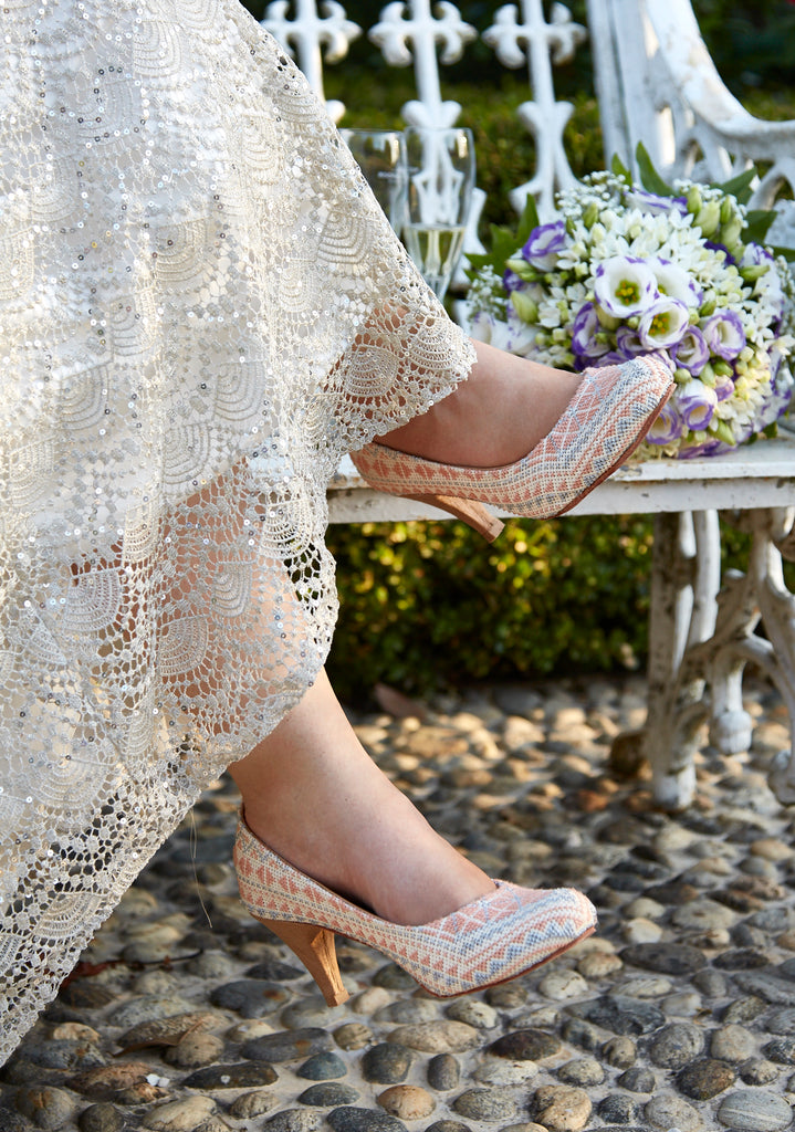 embroidered wedding shoes for brides