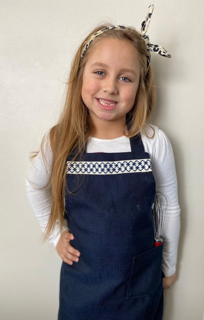 Presale: Children's Kuffiyeh Apron in Blue - Darzah