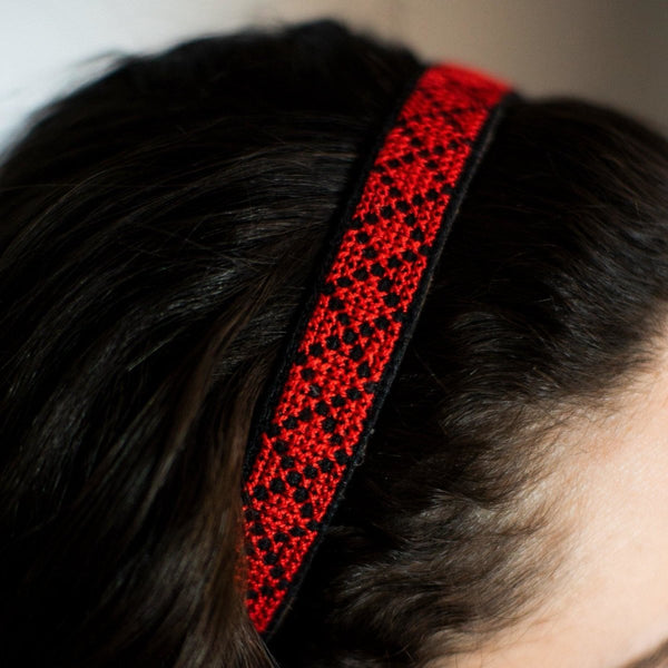 Tatreez Headband in Red - Darzah