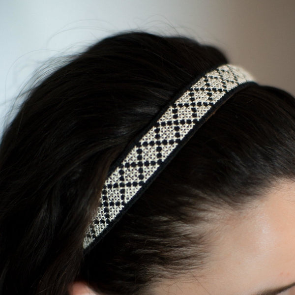 Tatreez Headband in White - Darzah