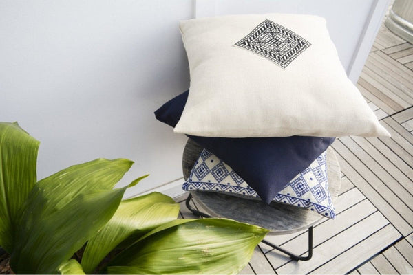The Diamond Pillow - Cream - Darzah