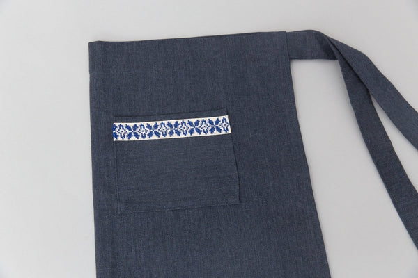 The Tatreez Apron - Blue - Darzah