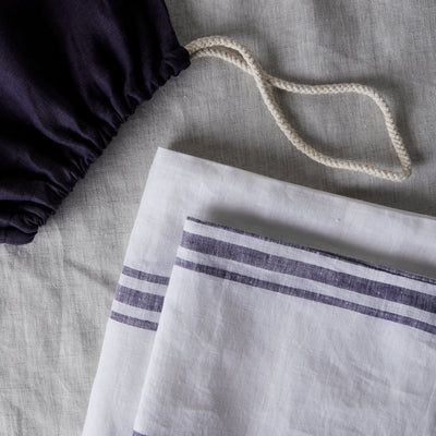100% LINEN PILLOWCASE SET - VINTAGE MILOS STRIPE. - TOW AND LINE