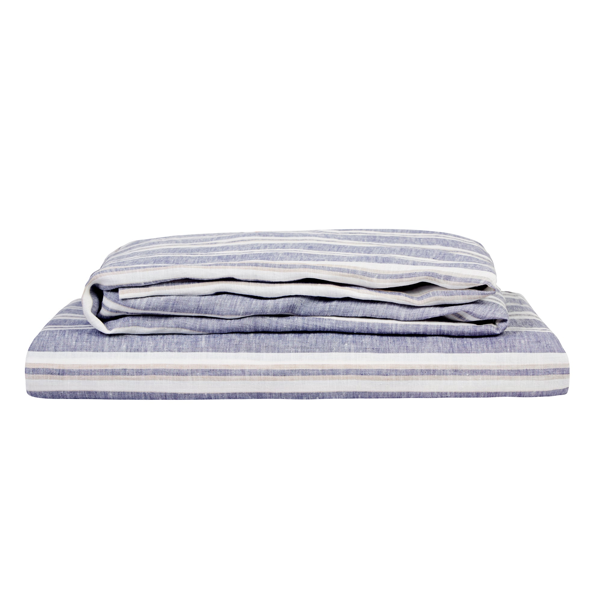 100% LINEN SHEET SET - VINTAGE MUSCAT STRIPE. - TOW AND LINE