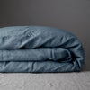 100% FRENCH LINEN DUVET COVER - LAKE BLUE