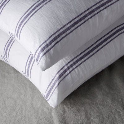 100% LINEN PILLOWCASE SET - VINTAGE MILOS STRIPE.