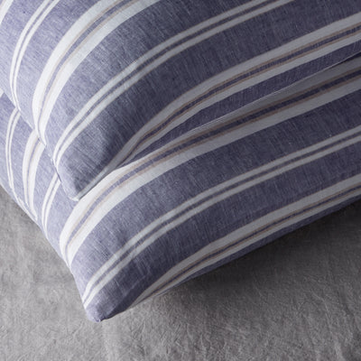 100% LINEN PILLOWCASE SET - VINTAGE MUSCAT STRIPE.