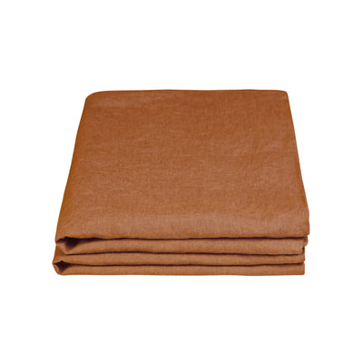 100% Linen Pillowcase Set - Tobacco