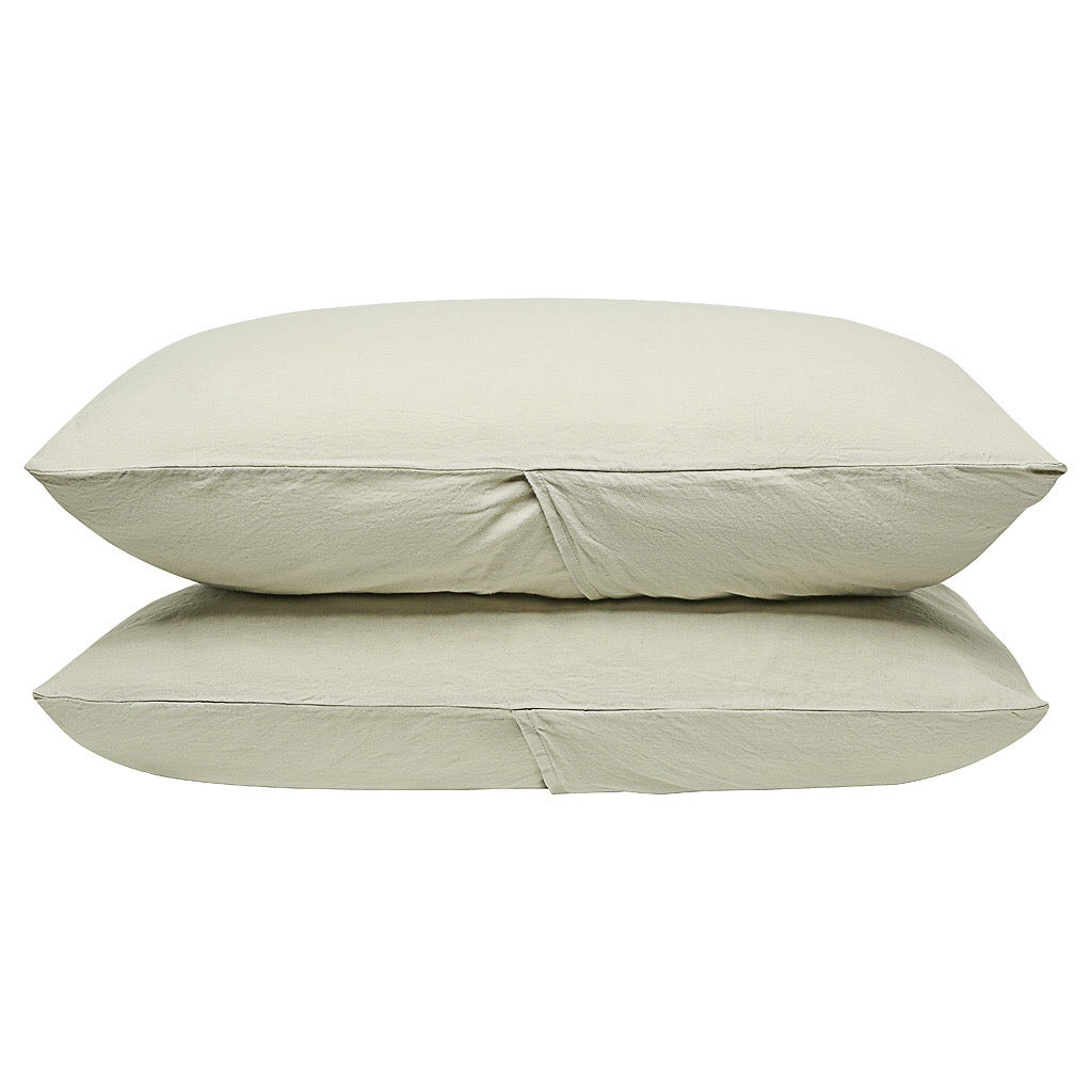 100% Linen Pillowcase set - Stone - TOW AND LINE