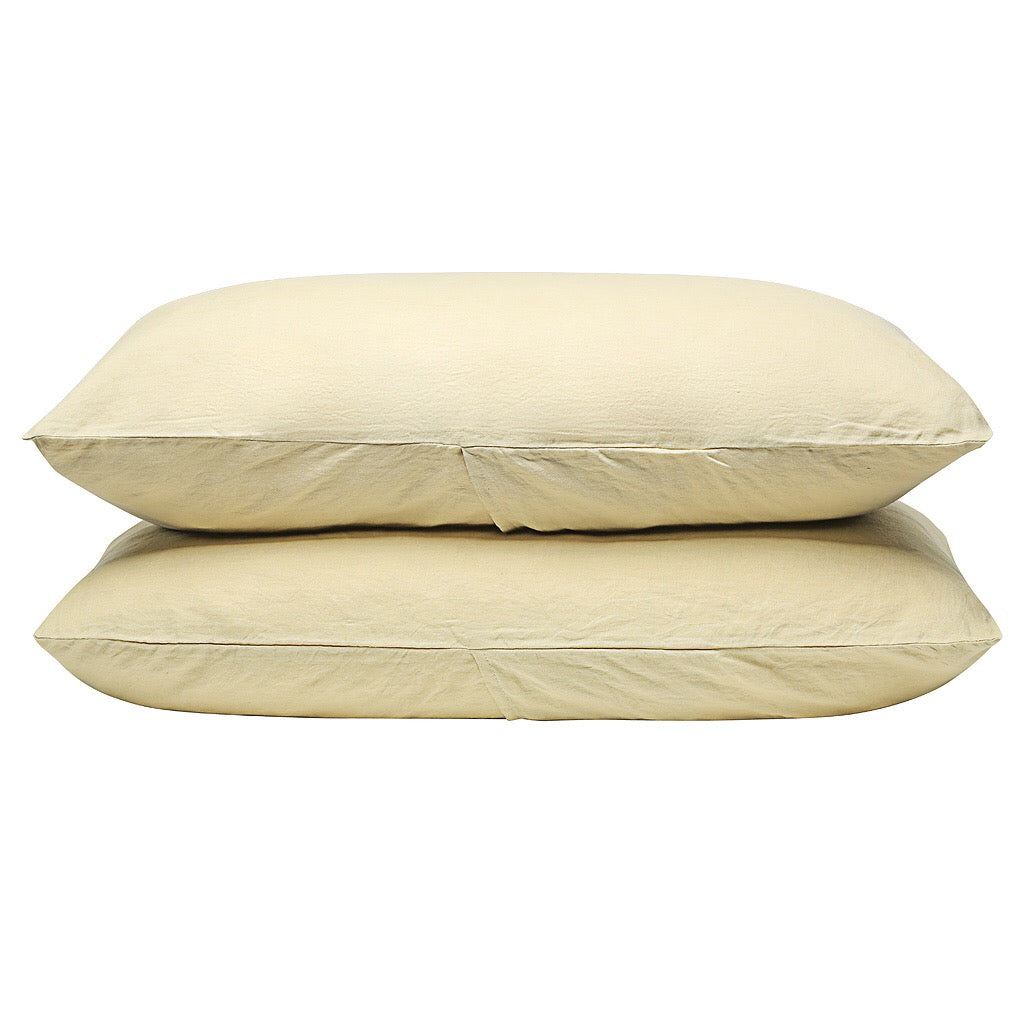 100% Linen Pillowcase set - Corn - TOW AND LINE