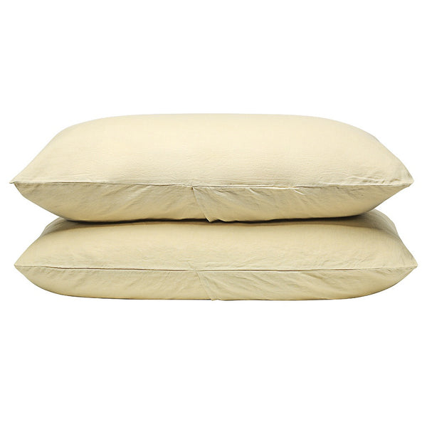 100% Linen Pillowcase set - Corn