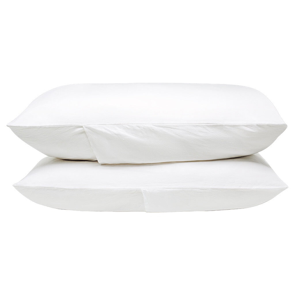 100% Linen Pillowcase set - White. - TOW AND LINE