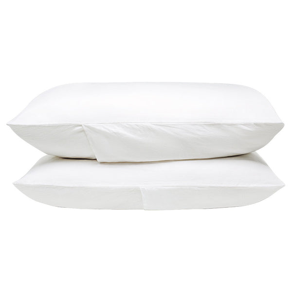 100% Linen Pillowcase set - White