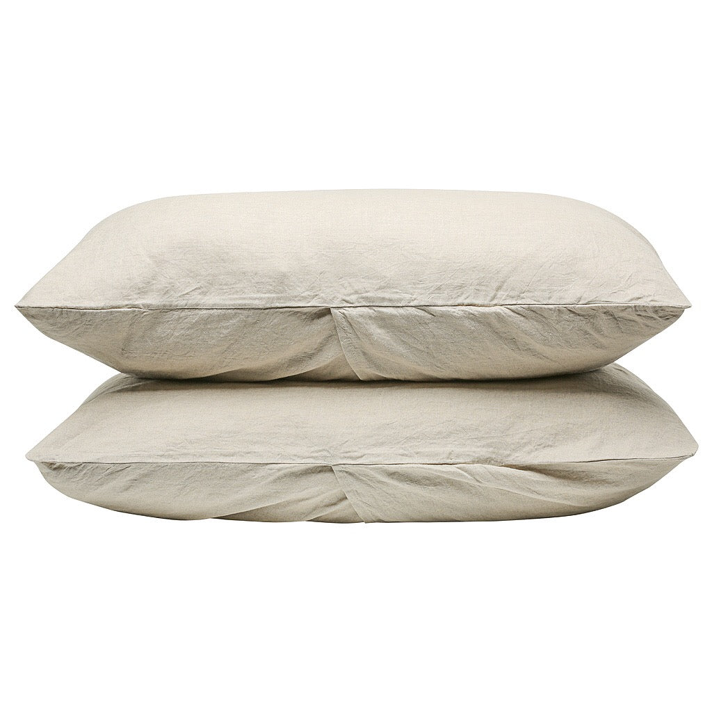 100% Linen Pillowcase set - Natural - TOW AND LINE