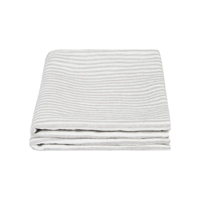 100% Linen Pillowcase Set - Grey Stripe - TOW AND LINE