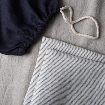 100% Linen Pillowcase Set - Pinstripe - TOW AND LINE