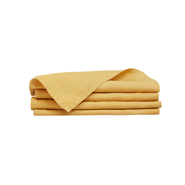 100% Linen Napkin Set - Sunflower