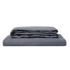100% Linen Sheet Set - Charcoal - TOW AND LINE