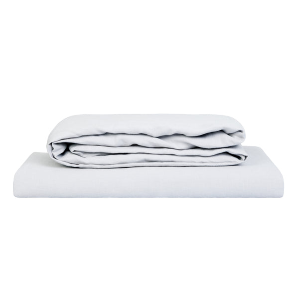 100% Linen Sheet Set - Pale Grey