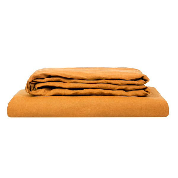 100% Linen Sheet Set - Clay