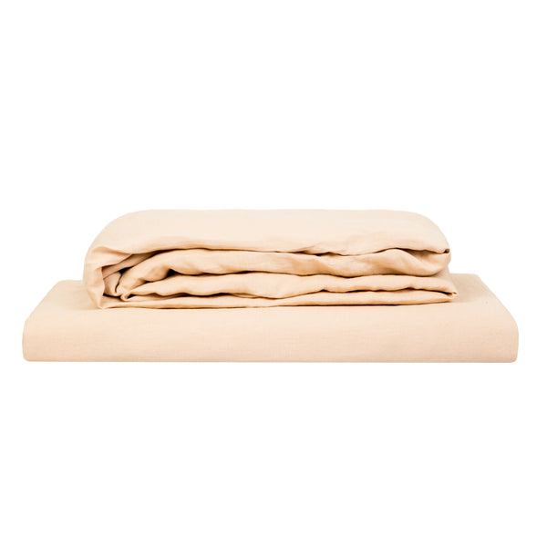 100% Linen Sheet Set - Oat