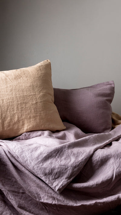 100% Linen Sheet Set - Lilac - TOW AND LINE