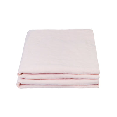 100% Linen Pillowcase set - Floss Pink - TOW AND LINE