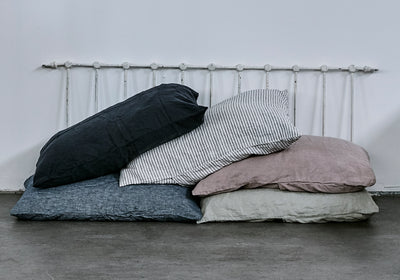 100% Linen Pillowcase set - Navy. - TOW AND LINE