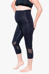 Essential 3/4 length pregnancy tight – Jet Black