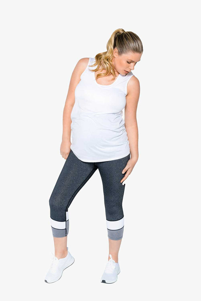 Essential 7/8 length pregnancy tight – Ice Cool