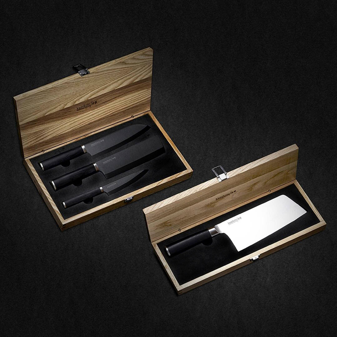 Kuro Series Knife Set & Chuka Bocho Cleaver (Ships in June 2020)