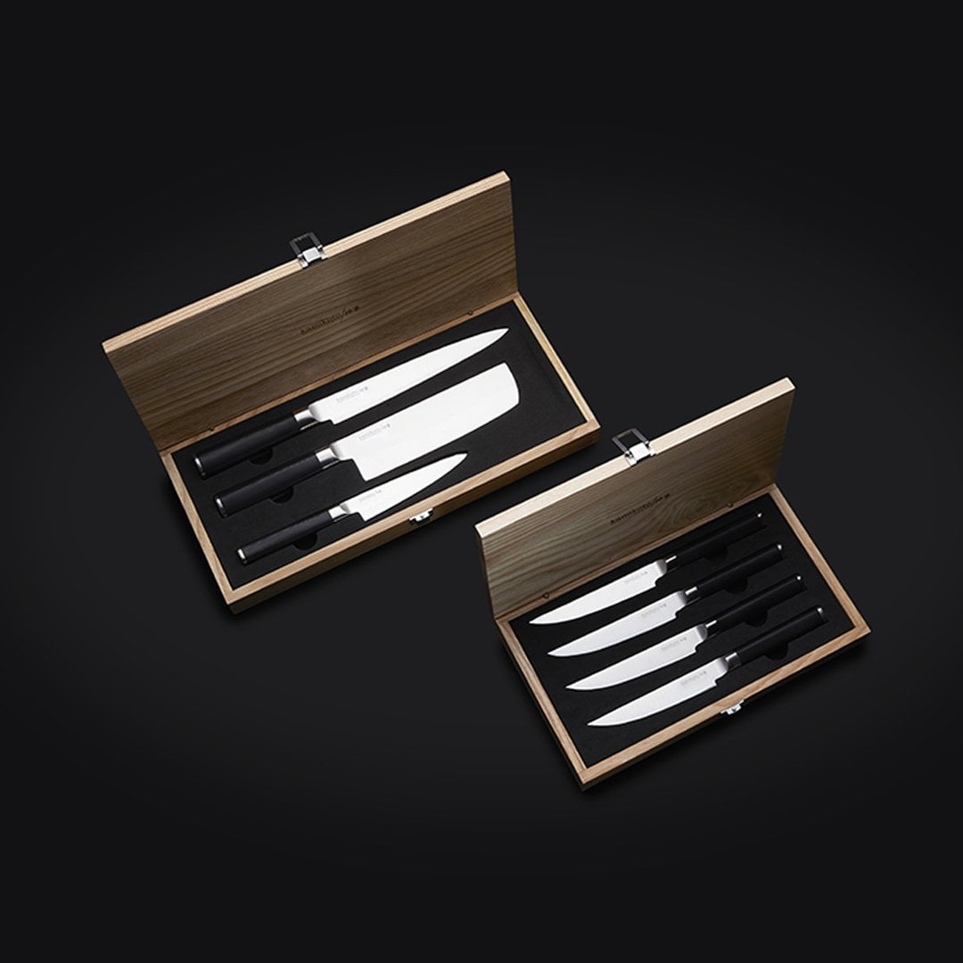 Kanpeki Knife Set & Steak Knife Set (4 Knives)