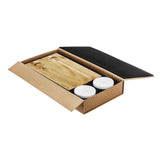 Acacia Wood Sushi Board In Box With Lid Open