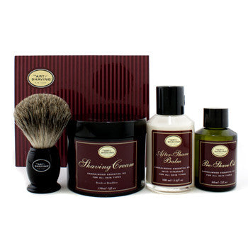 The 4 Elements Of The Perfect Shave - Sandalwood (Pre Shave Oil + Shave Crm + A/S Balm + Brush)