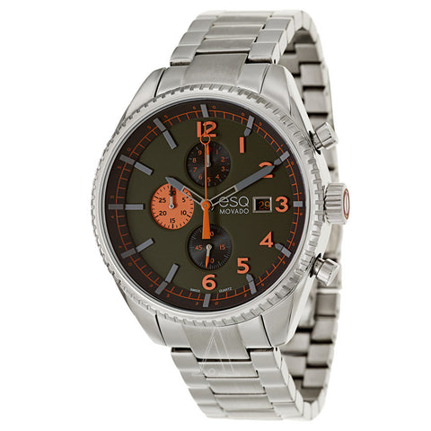 ESQ Movado® Catalyst Dark Green Dial Stainless Steel Mens Watch 07301447