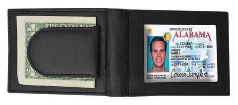 Genuine Leather Magnetic Moneyclip - 8+ Credit Card slots with Exterior ID Window
