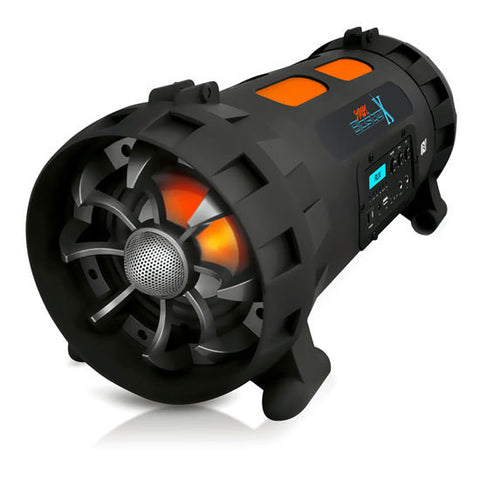 Street Blaster X High-Powered Rugged & Portable Bluetooth BoomBox Speaker, Mic/Guitar Inputs, 1000 Watt