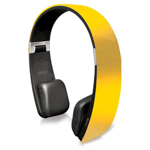 Sound 6 Bluetooth 2-in-1 Stereo Headphones with Built-in Mic for Call Answering (Yellow)