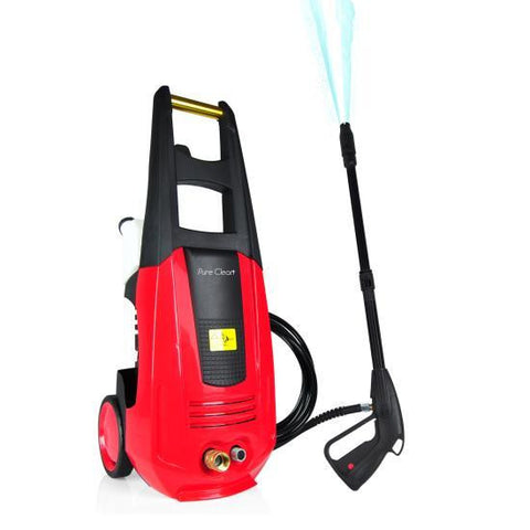 Pure Clean Pressure Washer - Electric Outdoor Power Washer with High-Pressure Nozzle Wand