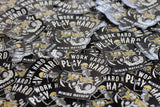 """WORK HARD PLAY HARD"" - Sticker (5-Pack)"
