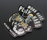 """WORK HARD PLAY HARD"" - Sticker (Single)"