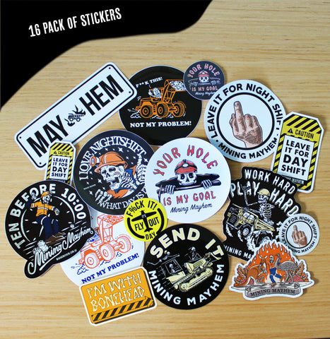 16 Pack of Stickers!
