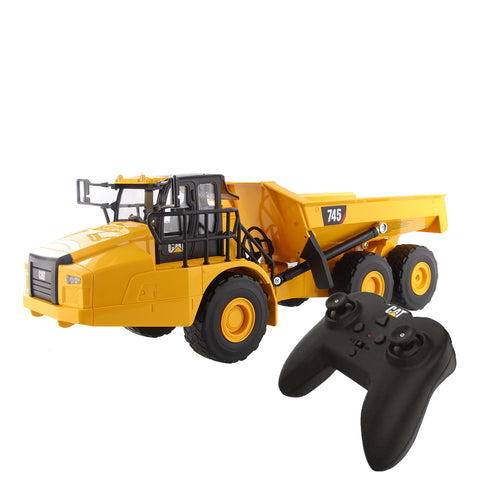 CAT Remote Controlled 745 Articulated Truck - 1:24 Scale + FREE STICKER PACK