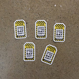 "10 Pack of ""LEAVE IT FOR DAY SHIFT"" Stickers - 5 Large + 5 Small"